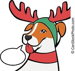 reindeer., noël