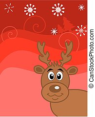 reindeer on Christmas background