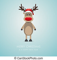 reindeer red nose