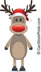 reindeer red nose and santa claus h
