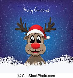 reindeer red nose winter