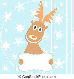 Reindeer Rudolph merry christmas