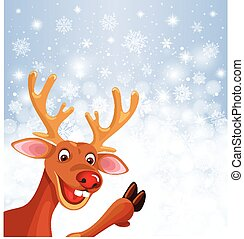Reindeer Rudolph on background