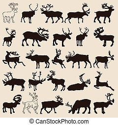 reindeer-set - 25 different reindeer