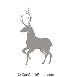 reindeer silhouette isolated icon