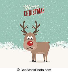 reindeer snowy background