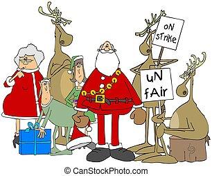 Reindeer strike at the north pole