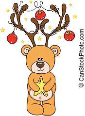 Reindeer Teddy Bear Christmas