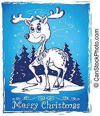 Reindeer theme drawing 2