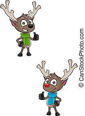 Reindeer - Thumbs Up