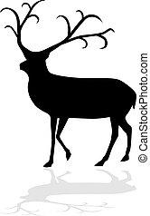 Reindeer vector illustration eps 10
