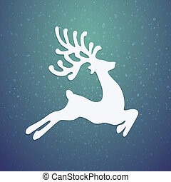 reindeer winter background