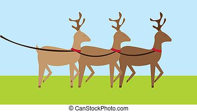 reindeers, dessin animé
