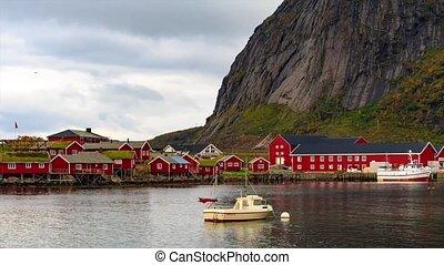 Reine timelaspe in Lofoten Islands, Norway