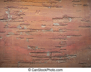 Reinforcement bars in a painted concrete wall