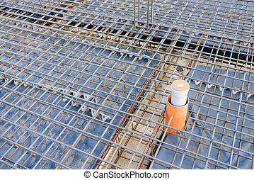 Reinforcement metal framework for concrete pouring. Ready ...