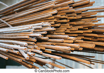 Steel reinforcement rods for the construction industry