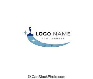 reiniger, logo, haus
