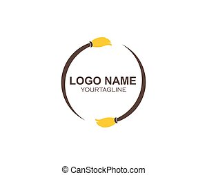 reiniger, logo, vektor, haus