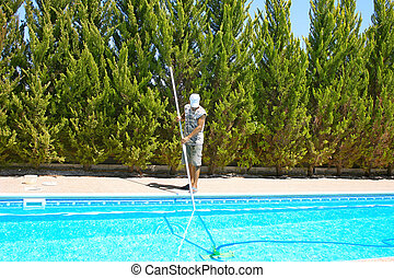 reinigingsmachine, pool, zwemmen