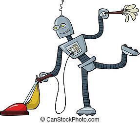 reinigingsmachine, robot