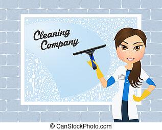 reinigingsmachine, venster