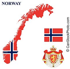 reino, bandeira, noruega