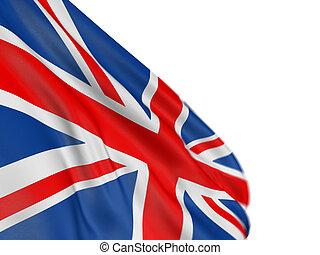 reino, bandera, unido, 3d