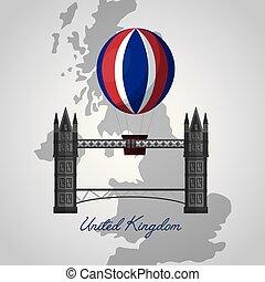 reino, bandera, unido, lugares
