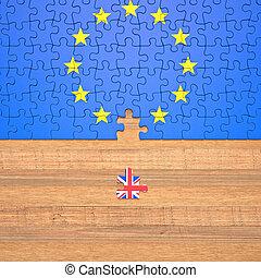 reino, brexit, unidas, união, confunda pedaços, europeu