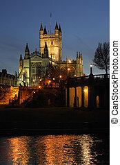 reino, cidade, unidas, -, abadia, banho