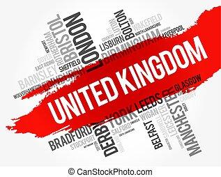 reino, cidades, unidas, lista, cidades