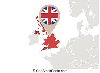 reino, europa, unidas, mapa