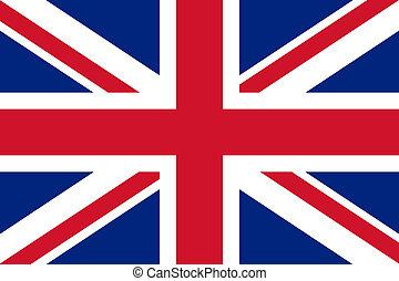 reino, nacional, unido, bandera