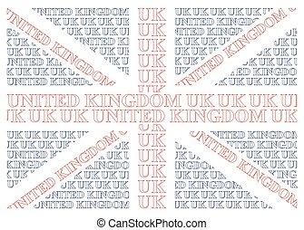 reino, texto, bandeira, unidas