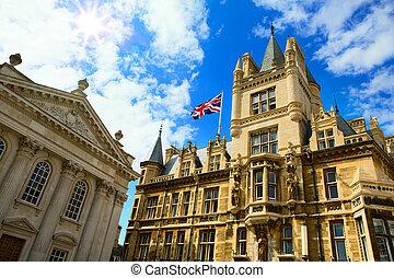 reino, unidas, arte, universidade, cambridge, educação