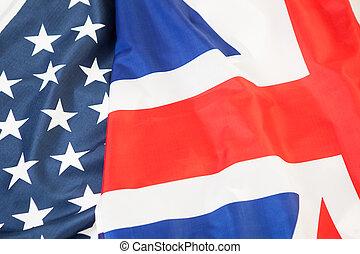 Reino, unidas, EUA, nacional, bandeira, Reino Unido
