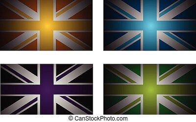 reino unido, bandeiras