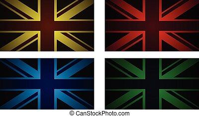reino unido, banderas