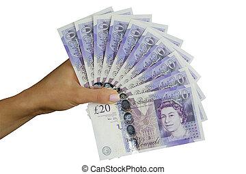 reino unido, dinero, libras esterlinas