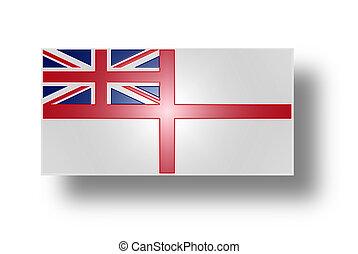 reino, unido, estilizado, (white, bandera, ensign)., yo.