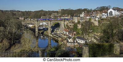 reino, unido, norte, -, yorkshire, knearsborough