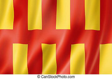 reino unido, northumberland, bandera, condado