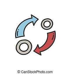 Reinvestment interest thin line icon. Vector Illustration design
