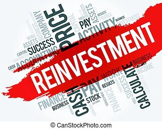 Reinvestment word cloud collage