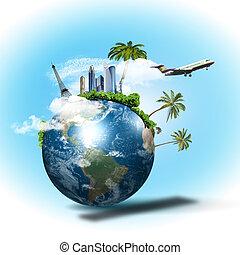 reis en toerisme, collage