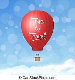 reis, realistisch, zomer, warme, mal, vakantie, tijd,...