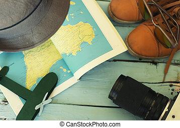 reise, accessoirs, foto