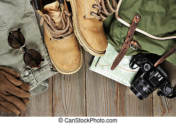 reise, accessoirs, satz