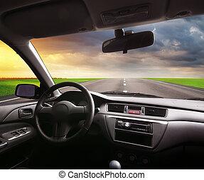 reise, auto.